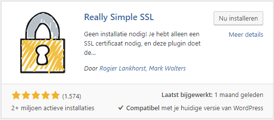 Really Simple SSL wordpress plugin